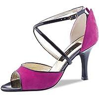 Nueva epoca–Donna Tango/scarpe da ballo Salsa Santa–Pelle scamosciata fuchsia–7cm, fucsia, UK 3 | EUR (36 Di Santa)
