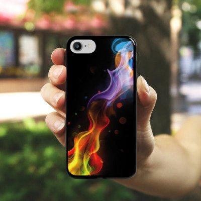 Apple iPhone X Silikon Hülle Case Schutzhülle Nebel Rauch Farben Hard Case schwarz