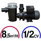 Pompe filtration piscine - 1/2CV Mono 8,5m³/H - Poolstyle