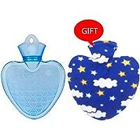 Gummi-Thermoskanne Herz-Form-PVC-heiße kalte Wasser-Flaschen-Tasche mit Abdeckung Winter-hintere Hals-Handwärmer-Tasche... preisvergleich bei billige-tabletten.eu