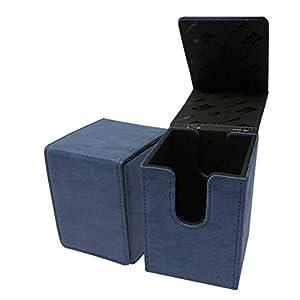 Ultra Pro E-85769 - Caja con Tapa para Cartas (Gamuza), Color Azul