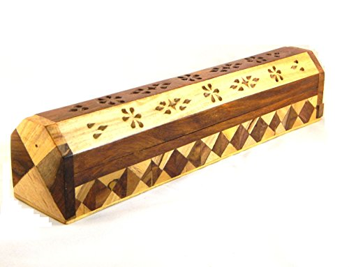Räucherkasten für Räucherstäbchen mit Intarsien -