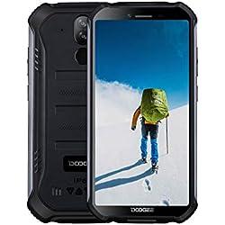 DOOGEE S40 Téléphone Incassable Portable 4G Android 9.0 Double SIM Smartphone Pas Cher, IP68 Télephone Etanche Antichoc, 32Go ROM + 3Go RAM, 5.5 Pouces, Batterie 4650mAh, Caméras 8MP+5MP, NFC, Noir