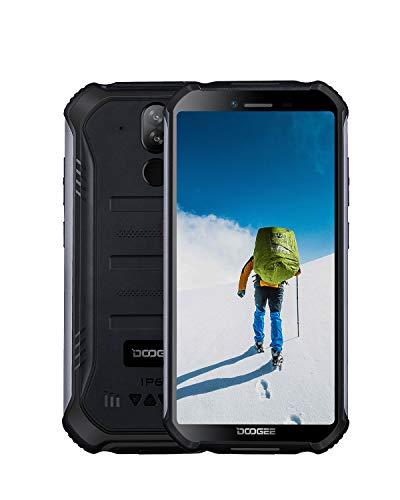 DOOGEE S40 Téléphone Incassable Portable 4G Android 9.0 Double SIM Smartphone Pas Cher, IP68 Télephone Etanche Antichoc, 32Go ROM + 3Go RAM, 5.5 Pouces, Batterie 4650mAh, Caméras 8MP+5MP, NFC, No