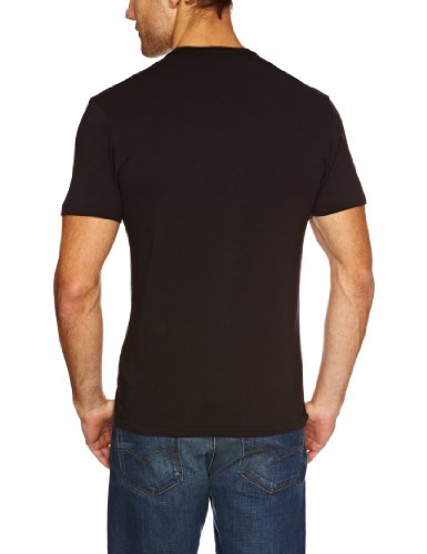 Levi's Herren T-Shirt 2-er Pack Crew Neck Slim Fit Schwarz (Black/Black)