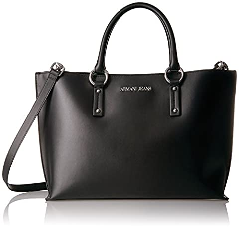 Armani Jeans Borsa Shopping, Sacs portés épaule femme, Schwarz (Nero), 28x13x38 cm (B x H T)