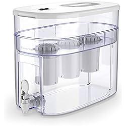 pH RECHARGE - Sistema depurador e ionizador de mesa - Con filtro superrápido para alcalinizar agua - Blanco - 12,5 l