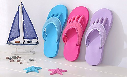 antidérapantes Lily plage pour piscine de Rose Tongs adulte douche Happy n4wSqBTgB