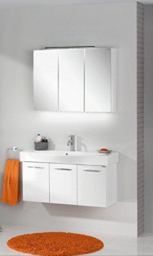 Fackelmann Spiegelschrank Vadea, Hochglanz weiß - 2