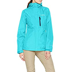 Columbia Mujer Chaqueta Impermeable Pouring Adventure II Jacket Azul Talla S