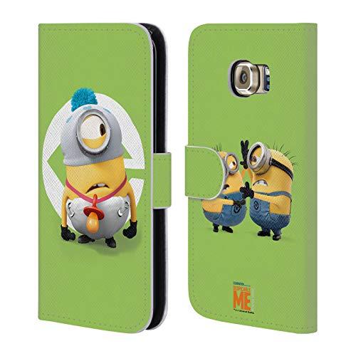 fizielle Despicable Me Stuart Baby Kostuem Minions Leder Brieftaschen Huelle kompatibel mit Samsung Galaxy S6 Edge ()