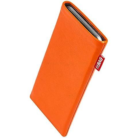 fitBAG Beat Orange - Custodia per cellulare per Palm Pre, in pelle nappa con imbottitura in microfibra - Palm Pre In Pelle