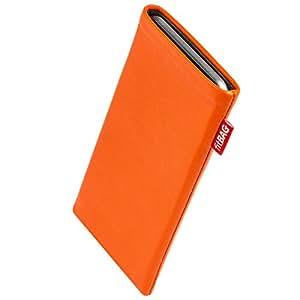 fitBAG Beat Orange Handytasche Tasche aus Echtleder Nappa mit Microfaserinnenfutter für Samsung Galaxy S4 Active i9295 / i9290