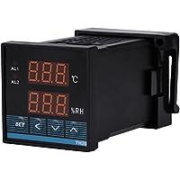 Controlador Digital de Temperatura Humedad Termostato de Salida de Relé Pantalla Digital -19.9 ℃ ~ 80.0 ℃ 0.0 ~ 99.9% RH AC85 ~ 265V