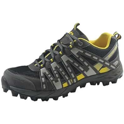 More Mile Cheviot Trail Shoe Black/Grey/Yellow