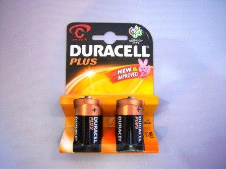 Duracell - lr14 x2 plus - Lot de 2 piles alcalines type lr14 c 1,5 volts