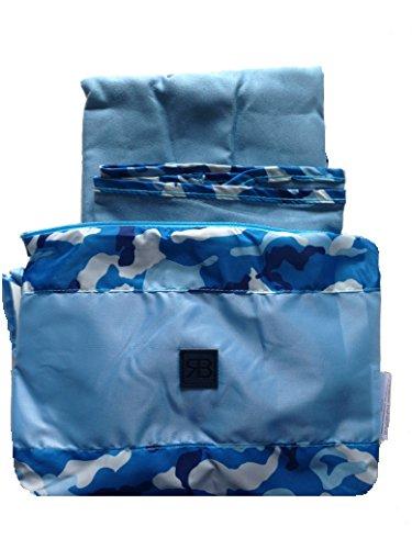 Telo Asciugamano per Mare Piscina in Microfibra con Borsetta 90x164 Renato Balestra Camouflage (Sky Blue - Celeste)