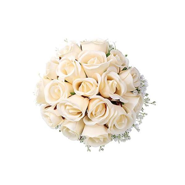 Dkhsy – Ramo de novia artificial para boda, diseño de flores artificiales