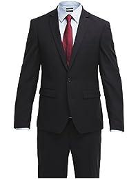 Pier One Anzug Herren Slim Fit Blau/Schwarz/Grau Business Herrenanzug Größe 46-54 Kombination aus Sakko & Anzug-Hose