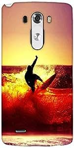 Snoogg Surfer Style Designer Protective Back Case Cover For LG G3