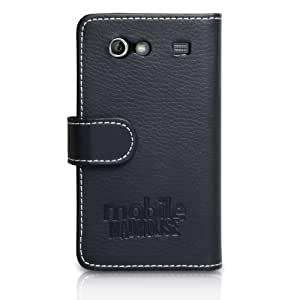 Coque Samsung Galaxy S Advance i9070 Etui Noir PU Cuir Portefeuille Housse