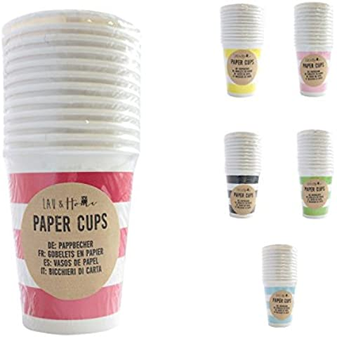 Carta Coppe feste (9oz) Linee - Rosso 1 Pack (12 Cups)