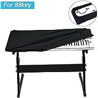 Gifort Funda Piano 88 Teclas, Cubierta para Teclado, Impermeable y Prevenir el polvo Cubierta para el teclado de piano electrónico, Negro
