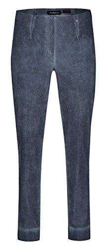 Marie Robell Damen Stretchhose Neues Modell imCold Dyed Look durch hellere  Stofffärbung an den Nähten Jeansblau