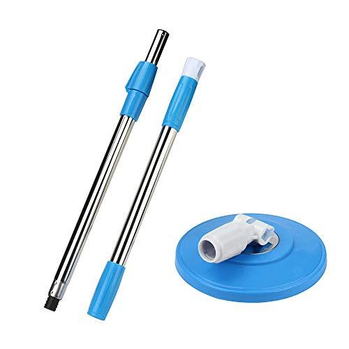 Rameng Manche à Balai Télescopique Tête de Vadrouille Rotatif 360 Ustensiles de Nettoyage (Bleu)