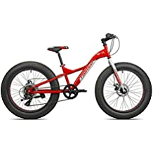"'Torpado vélo fat bike Big Boy 24 ""acier 7 V Rouge Blanc (Fat)/Bicycle Fat Bike Big Boy 24 Steel 7 V Red White (Fat)"