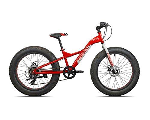 Torpado bici fat bike big boy 24'' acciaio 7v rosso bianco (Fat) / bicycle fat bike big boy 24'' steel 7v red white