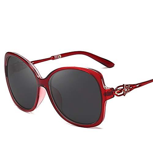 FYrainbow Polarisierte Sonnenbrille, Pentagramm mit Diamant-Sonnenbrille eingelegt, eignet Sich am besten zum Angeln Golf-Outdoor-Reisen Einkaufen Anti-Ultraviolett UV400,B