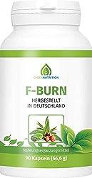 Green Nutrition   F-Burn mit Grüntee-Extrakt   90 Kapseln - 100% Natürlich