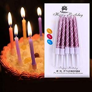Gifts 4 All Occasions Limited SHATCHI-1076 RGRP - Velas para decoración de tartas (10 unidades), color rosa claro