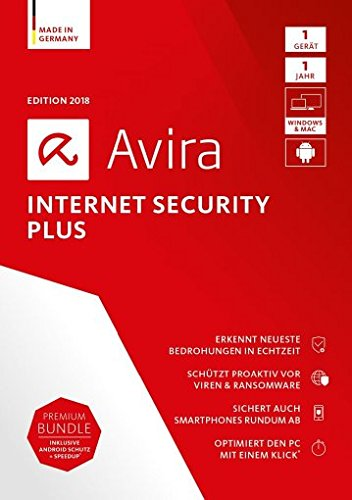 Avira Internet Security Plus (2018) – 1 Gerät Standard, Windows 7