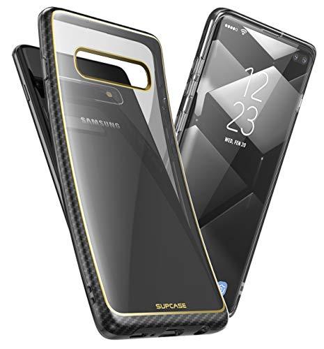 SUPCASE Hülle für Samsung Galaxy S10+ Plus Handyhülle Slim Case Soft TPU Schutzhülle Transparent Backcover [Unicorn Beetle Metro] 2019 Ausgabe (Gold)