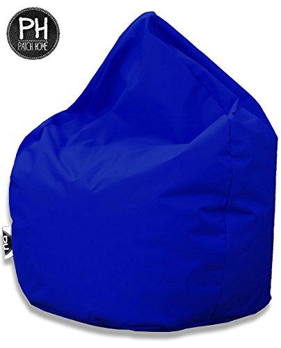 Patchhome Sitzsack Tropfenform Blau für In & Outdoor XL 300 Liter - mit Styropor Füllung in 25 Versch. Farben und 3 Größen