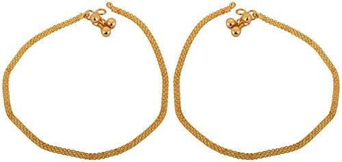 Memoir Gold Plated Plain and sober Anklet for Women