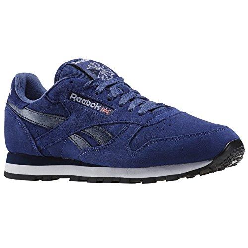 Reebok Cl Leather Suede - midnight blue/navy/wh, Größe:4