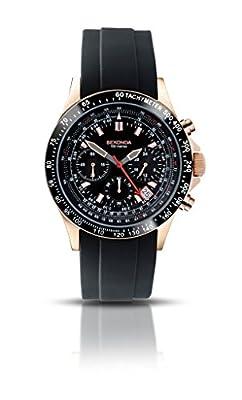 SEKONDA 3101.27 - Reloj de cuarzo para hombres, con correa de silicona, color negro de Sekonda