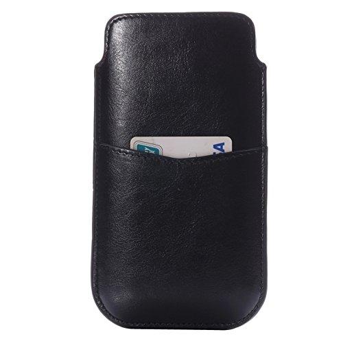 Phone case & Hülle Für iPhone 6 Plus / 6S Plus, Samsung Galaxy Note 5 / Hinweis 4 / Hinweis 3 Crazy Pferd Textur Leder Tasche Tasche Tasche Tasche Tasche mit Pull Up Tab & Card Slot ( Color : Black ) Black