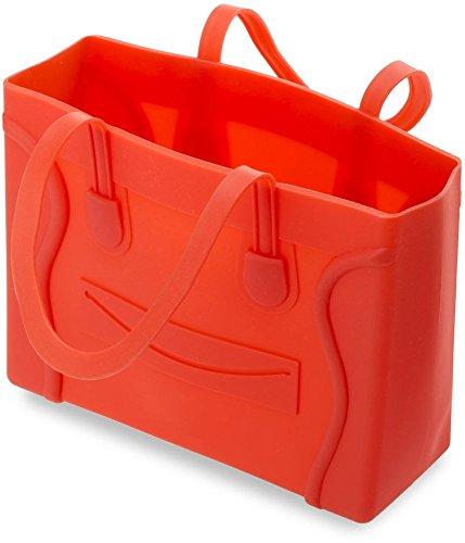 originelle Silikon - Damentasche Bowlingbag Henkeltasche Phantom Silikon jelly bag viele Farben (rot) schwarz