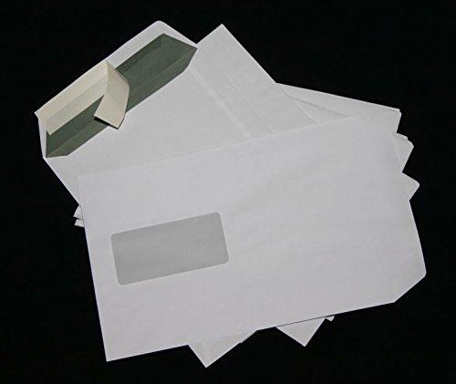 50 Stück Versandtaschen Briefumschläge C5 A5 weiß haftklebend mit Fenster 162x229 mm