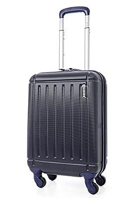 5 Cities ABS Bagage Cabine à Main Valise Rigide Léger 4 Roulettes, approuvées pour Ryanair, Easyjet, Air France, Flybe, Jet2, Monarch et Plus