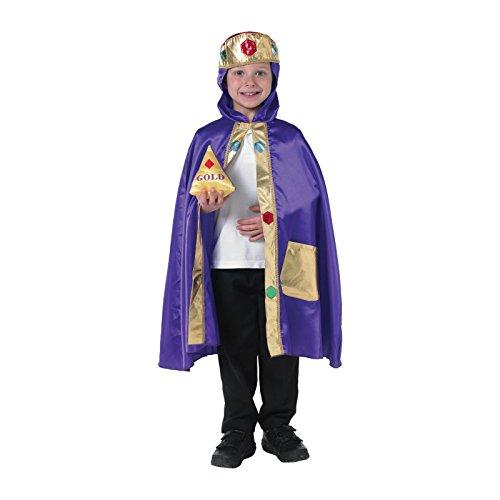 Kinder kluger Mann oder König Kostüm Alter 4-6 Jahre. Cape mit Krone und (Mann Uk Alter Kostüm)