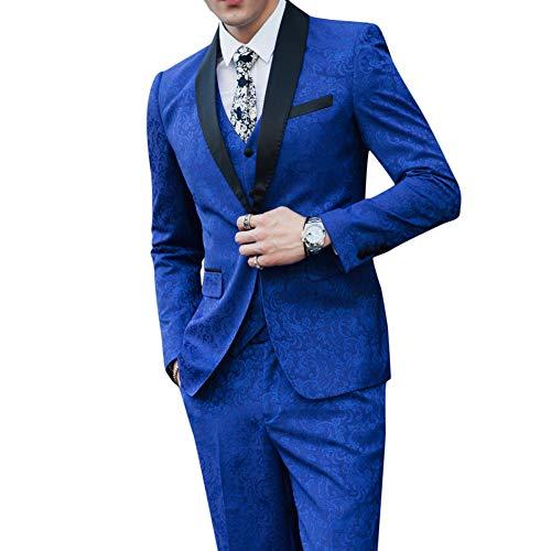 TDPYT 3 Stück Herren Smoking Anzug Smoking Homme Mariage Kostüm - Kostüm Homme Mariage