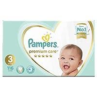 Pampers Premium Care Diapers, Size 3,  Midi, 5-9 kg, Mega Box, 116 Count