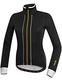 RH + Sancy W Jacket blk-wh-gld L, chaquetas (Ciclismo) Mujer, black-white-gold, L