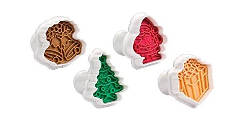 Tescoma Timbro Tagliabiscotti con Estrattore Natale, Plastica, Multicolore, 23 x 14.5 x 5.9 cm
