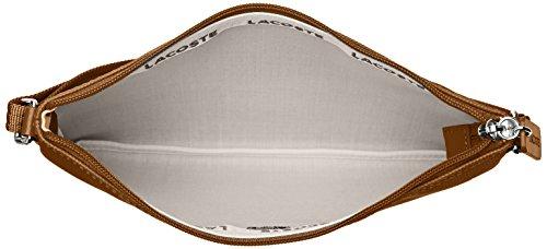 Lacoste Damen Nf1887po Umhängetaschen, 17.5 x 1 x 27 cm Marron (Golden Brown)